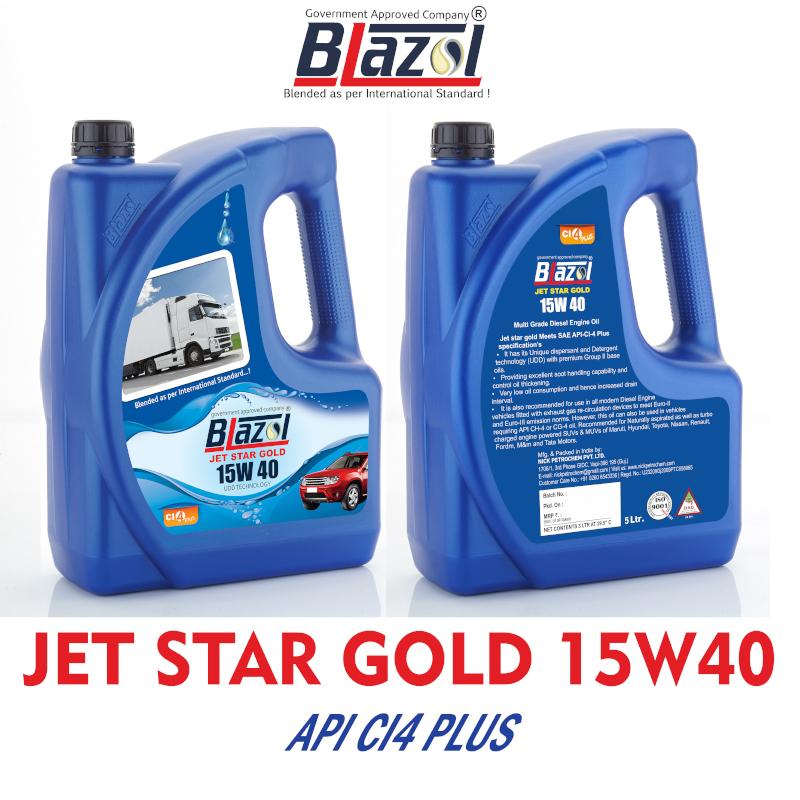 BLAZOL Jet Star Gold 15W40 (API CI-4 PLUS)