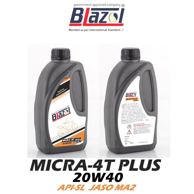 BLAZOL MICRA 4-T PLUS 20W40 ( API-SL )