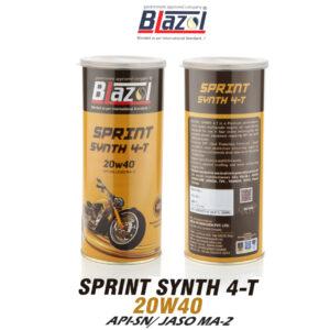 BLAZOL SPRINT SYNTH 4-T 20W40 ( API-SN)
