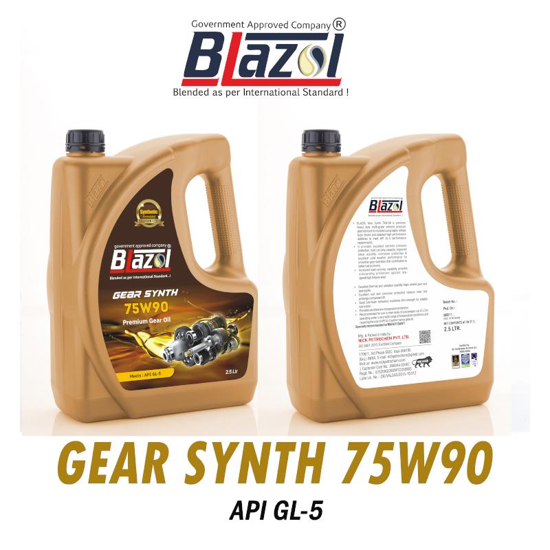 BLAZOL Gear Synth 75W90 (API-GL5) - 2.5 ltr