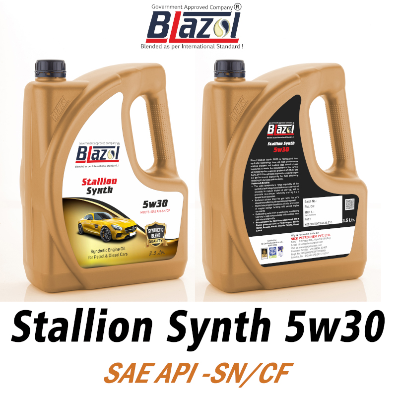 BLAZOL STALLION SYNTH 5W30 (API-SN CF)-3.5 ltr